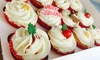 GlamoRose Cakes - 18 High Street: Box of 12 Mince Pie or Vanilla Flavoured Christmas Cupcakes from GlamoRose Cakes