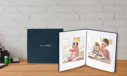 From $14.95 for a Personalised Deluxe Hardcover Photobook with Hot Stamping (Don't Pay up to $368.95)