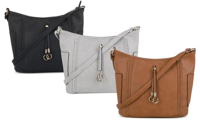 587850eaba85d9 Up To 58% Off on MKII Katie Crossbody Hobo Bag | Groupon Goods