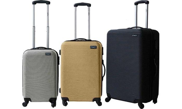photos officielles 7f26a 34431 Set de 3 valises ABS Manoukian | Groupon
