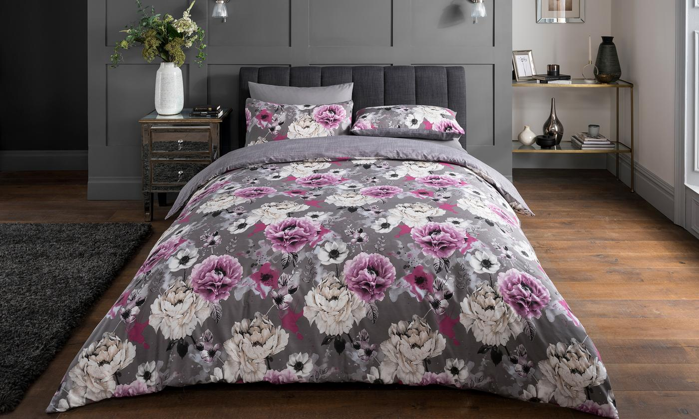 Pieridae Inky Floral Duvet Set for £5.99