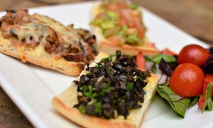 Oscars Cafe Bar: Two-Course Pizza Meal for Two or Four at Oscars Cafe Bar, Christchurch (Up to 42% Off)