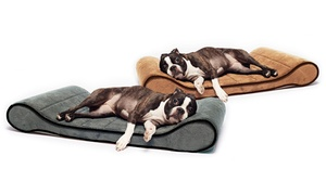 Memory-Foam Orthopedic Contoured Pet Lounger at Memory-Foam Orthopedic Contoured Pet Lounger, plus 6.0% Cash Back from Ebates.