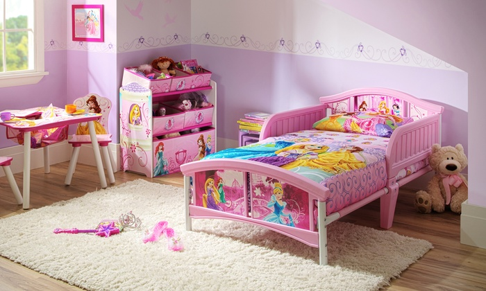 Delta Children Disney Princess Convertible Toddler Bed By