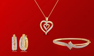 Clearance: 1/10 CTTW Diamond Jewelry Set (3-Piece)