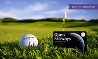 12- or 18-Month Golf Privilege Card and Two Magazines from Open Fairways (Up to 75% Off)