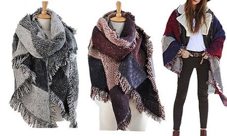 Vincenza Women's Oversized Blanket Scarf