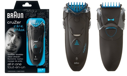 Braun CruZer 5 Face 3-in-1 Cordless Shaver (Shipping Included)