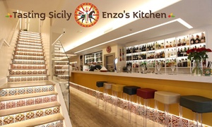 Tasting Sicily Enzo's Kitchen: Two-Course Italian Lunch for Two, Four or Six at Tasting Sicily Enzo's Kitchen (Up to 70% Off)
