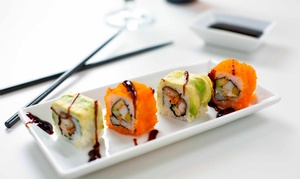 Note Bar and Lounge: Six Sushi for Two with Optional Cocktail at Note Bar and Lounge (Up to 48% Off)