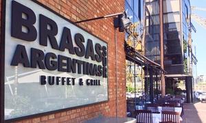 Brasas Argentinas Sur: Desde $469 por almuerzo o cena libre + entrada libre + postre + copa de despedida para 2 o 4 en Brasas Argentinas Sur