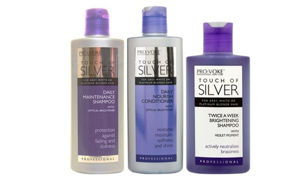 Pro:Voke Touch Of Silver Hair Set with Shampoos and Conditioner for £6.98