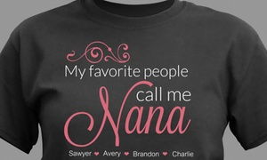 52% Off Personalized Nana T-Shirt from GiftsForYouNow.com