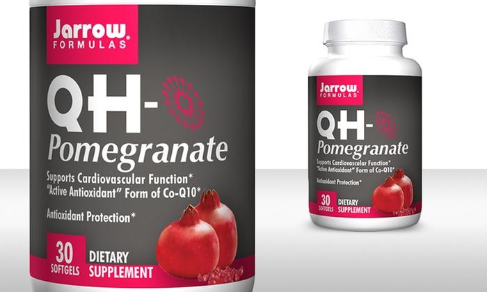 Jarrow Formulas QH-Pomegranate Supplement: Jarrow Formulas QH-Pomegranate Supplement 30-Serving Bottle. Free Shipping.