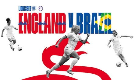 England v Brazil Womens' Football, 5th of October at Riverside Stadium *