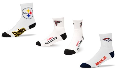 NFL Team Logo Unisex Original White Crew Socks