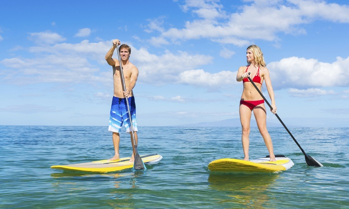 Peter Pan Surfing Academy (Child) - Narragansett Surf & Skate Shop: $45 for a Group Standup-Paddleboard Lesson for Two from Peter Pan Surfing Academy ($90 Value)