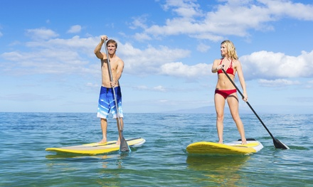 $45 for a Group Standup-Paddleboard Lesson for Two from Peter Pan Surfing Academy ($90 Value)
