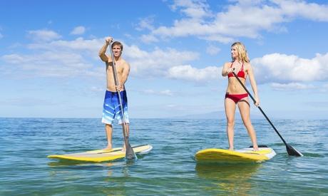 Bautismo de paddle surf para 1, 2 o 4 con todo el material incluido desde 12 € en Ungravity