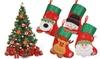4er-Set Weihnachts-Ministrümpfe
