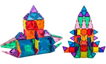 PicassoTiles 3D Magnetic Building Blocks – Mini Diamond Series