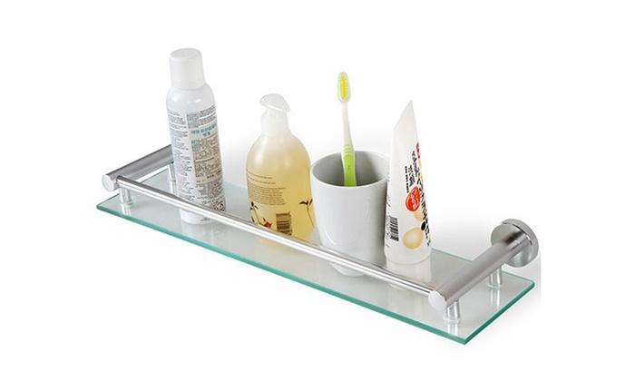 Mensola da bagno in vetro groupon goods