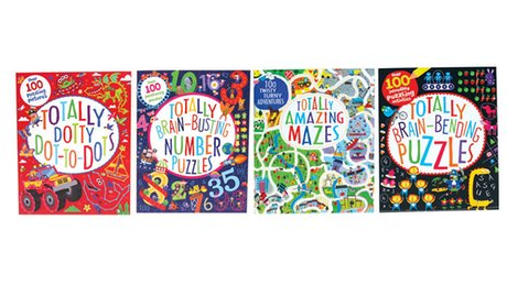 Totally Brain Puzzle Books (4-Pack)