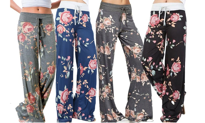 One or Two Pairs of Women's Floral Lounge Trousers from £8.99