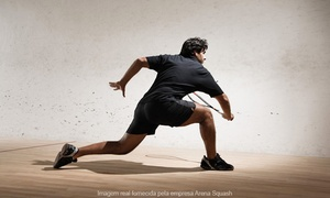Arena Squash: Arena Squash – Santo Antônio: locação da quadra de squash por 2h, 6h ou 12 horas + 2 raquetes e aula