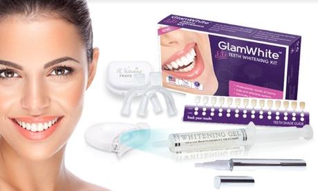 1 o 2 kits de blanqueamiento dental Glamwhite con 1 o 2 elegantes lápices blanqueadores