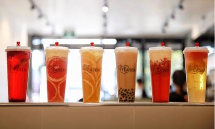 Choice of Milk Tea $3.30 or 2 Ppl $6.60, or Fruit Tea $3.99 or 2 Ppl $7.98 at Teaser Brisbane