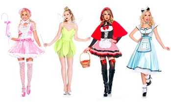 Music Legs Women's Sexy Storybook Costumes (Multiple Styles Available)