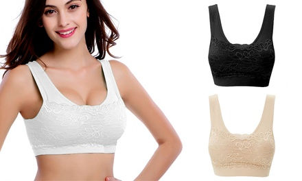 One or Two ThreePacks of Lace Front Comfort Bra