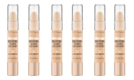 $16 for a SixPack of Maybelline Dream Brightening Creamy Concealer in Fair, Light or Light/Medium Don't Pay $57