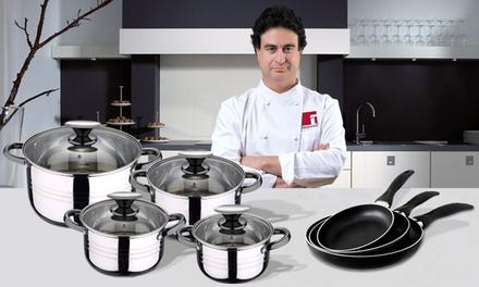 Batería de cocina de 4 ollas y 3 sartenes San Ignacio