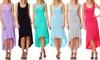 Women's Long Crisscross High-Low Dress