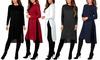 Women's Knee-Length Hacci Tunic and Black Fleece-Lined Leggings S-3X