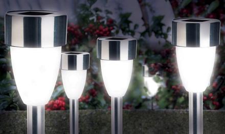 8er- oder 16er-Pack LED Solarleuchten in Tulpenform