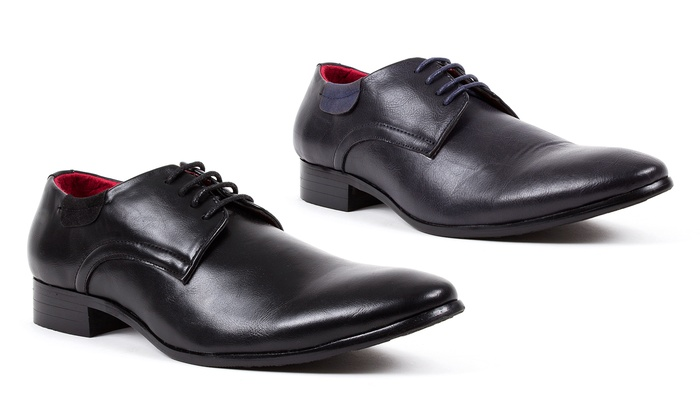 Royal Men's Plain-Toe Derby Shoes