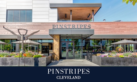 Bowling with Shoe Rental or Bocce at Pinstripes Cleveland (Up to 40% Off). Eight Options Available.