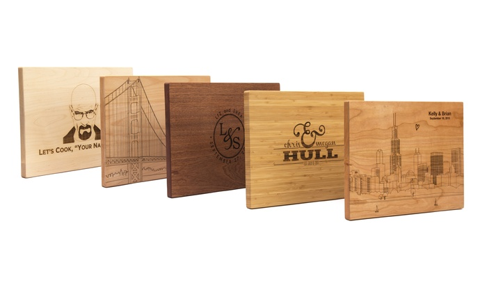 "Personalized 11""x16"" Cutting Boards with Optional Juice Grooves from Bloxstyle (Up to 48% Off)"