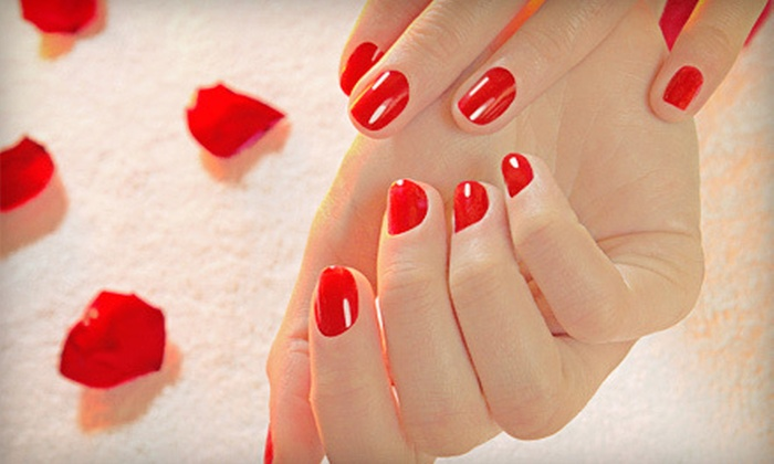 Prizms Salon & Day Spa - Lower Nazareth: Shellac Manicure with Optional Classic Pedicure at Prizms Salon & Day Spa (Up to 52% Off)