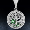 Tree of Life Necklace with Dancing Crystals
