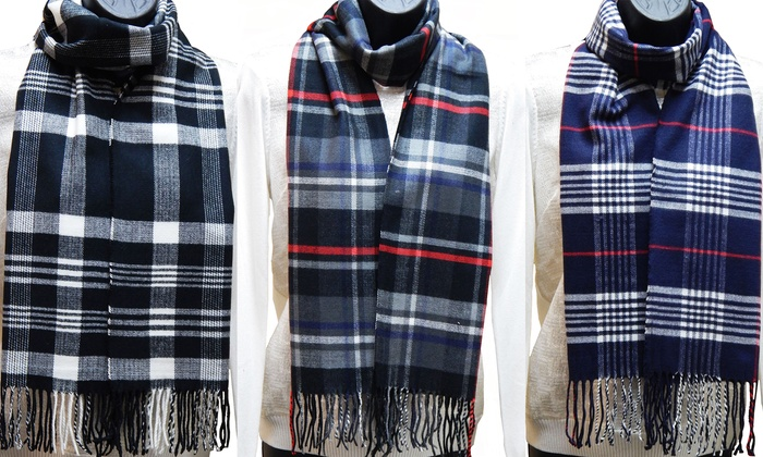 Men's and Women's Plaid Scarf