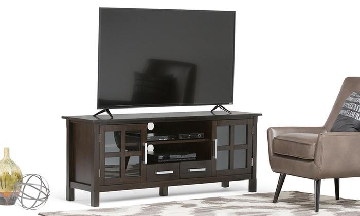 Simpli Home Kitchener TV Stand   Groupon Goods