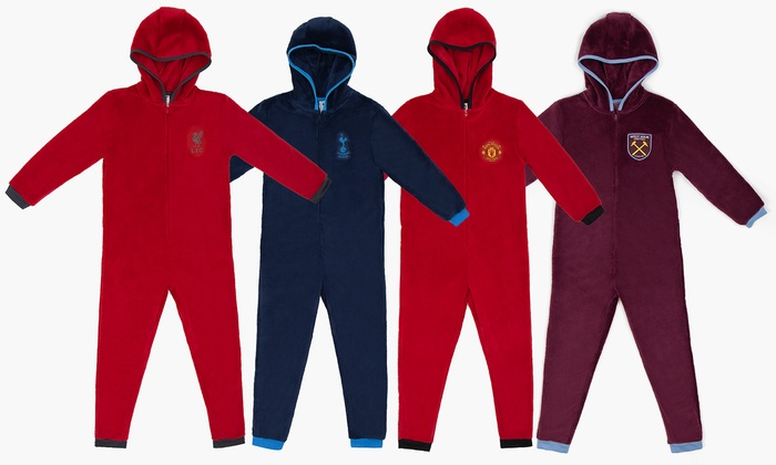 Kid's Football Fleece Onesies from £11.99
