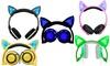 TechComm Foldable LED Cat Ear Headphones
