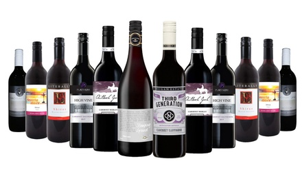 $65 for a 12Piece Christmas Red or White Mixed Wine Case Don't Pay $249