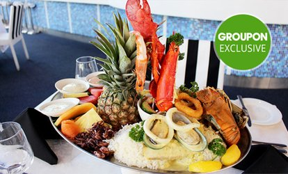 Seafood Platter for Two ($59) with Half a Lobster ($65) at Galaxy Seafood & Mediterranean Restaurant (Up to  $219 Value)