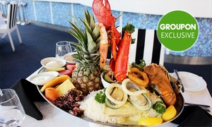 Galaxy Seafood & Mediterranean Restaurant: Seafood Platter for Two ($59) with Half a Lobster ($65) at Galaxy Seafood & Mediterranean Restaurant (Up to  $219 Value)